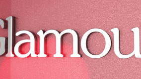 Glamour banner stock footage