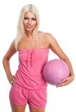 Glamour blond basketball Royalty Free Stock Photo