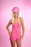 Glamour blond worker Royalty Free Stock Images
