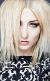 Glamour blonde. With blue astonishing eyes Stock Images