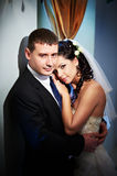 Glamour bride and groom Stock Image