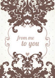 Glamour   brown frame. Glamour vector vintage ornate  brown frame Stock Photos
