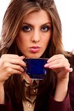 Glamour businesswoman with coffee cup Stock Image