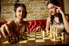 Glamour chess Royalty Free Stock Photography