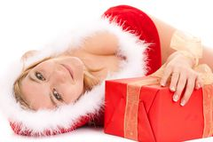 Glamour christmas woman Stock Image