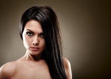 Glamour closeup of young woman Royalty Free Stock Photos