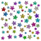 Glamour colorful star Stock Image