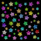Glamour colorful star Royalty Free Stock Image
