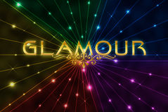 Glamour on colour background Royalty Free Stock Image