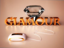 Glamour Concept with Diamond jewel Stock Photos