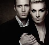 Glamour couple Royalty Free Stock Image