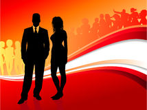 Glamour couple on summer party background Royalty Free Stock Photos