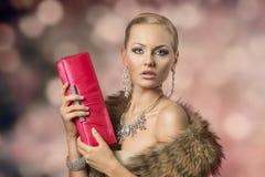 Glamour elegant female Royalty Free Stock Photo