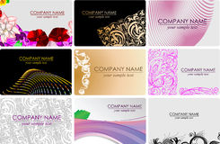 Glamour Fashion Busines Cards Royalty Free Stock Photography