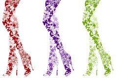 Glamour fashion legs on white. Vector illustration Stock Image