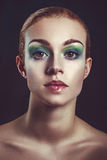 Glamour fashion portrait beautyful woman colorful makeup Royalty Free Stock Photography