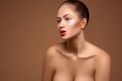 Glamour female in studio Royalty Free Stock Photo