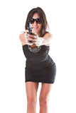 Glamour gangster Stock Images