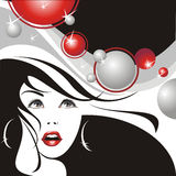 Glamour girl. On a party. (vector illustration vector illustration