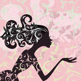 Glamour girl hair ornament Stock Photography