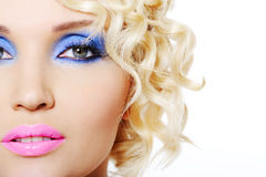 Glamour girl's face Stock Image