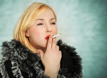 Glamour Girl smoking Royalty Free Stock Photo