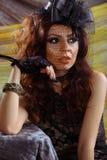 Glamour girl studio portrait Stock Images