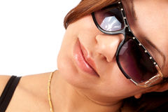 Glamour girl with sunglasses Stock Photo