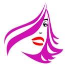 Glamour girl on a white stock illustration