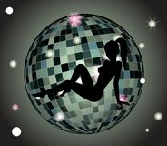 Glamour Globe. Vector glamour Globe Of Tiles Abstract Royalty Free Stock Photography
