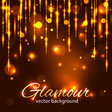 Glamour gold background Stock Images