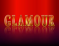 GLAMOUR gold letters. Vector illustration Royalty Free Stock Photo