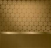 Glamour golden wallpaper Stock Images