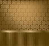 Glamour golden wallpaper Stock Images