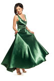 Glamour in green Stock Photo