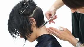 Glamour haircut stock video