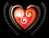 Glamour heart Stock Image