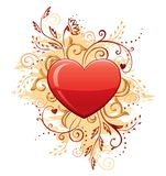 Glamour Heart with Floral Ornate Royalty Free Stock Photo