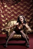 The glamour hysteric woman Royalty Free Stock Photo