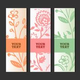 Glamour invitation or greeting card with stylish floral background Stock Photo