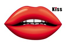 Glamour kiss vector. Vector illustration of glamour kiss Royalty Free Stock Photography