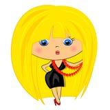 Glamour lady.fashion girl Royalty Free Stock Image