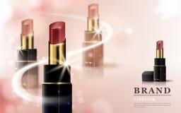 Glamour lipstick ads Royalty Free Stock Photos
