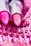 Glamour lipsticks in different colors Stock Photo