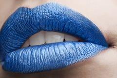 Glamour macro lips Stock Images