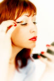 Glamour make-up stock photos