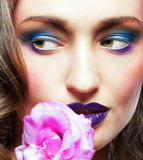 Glamour make-up Stock Images