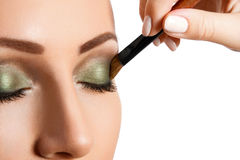 Glamour make up woman eye close up Royalty Free Stock Image