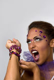 Glamour Makeup Stock Image