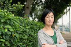 Mature Asian woman Stock Images